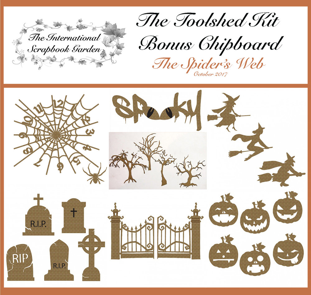 Creative Embellishments Pumpkin Faces Chipboard
