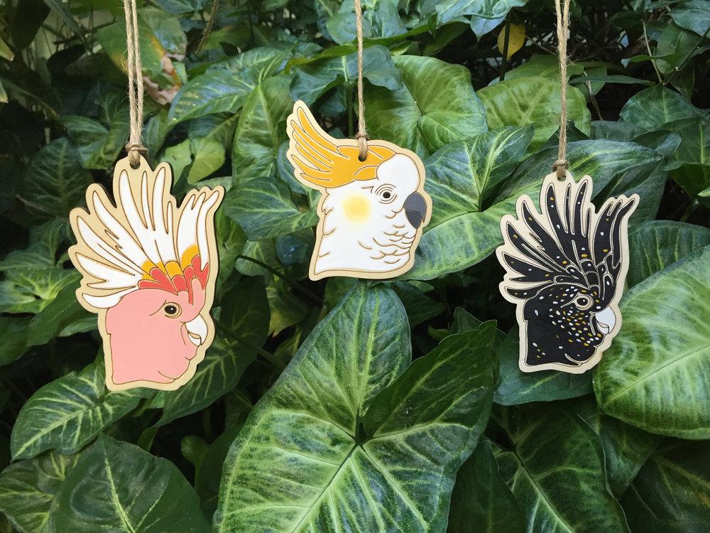 Outer Island_3 Cockatoo Ornaments.jpg