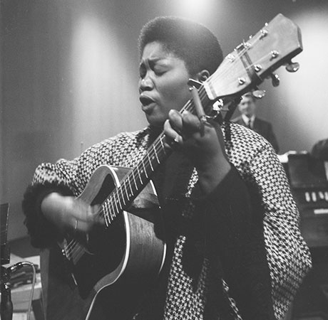 Odetta Holmes: Known simply as Odetta (Dec 31st,1930-Dec 2, 2008) is an American folk singer and songwriter, guitarist, actress and civil rights activist.