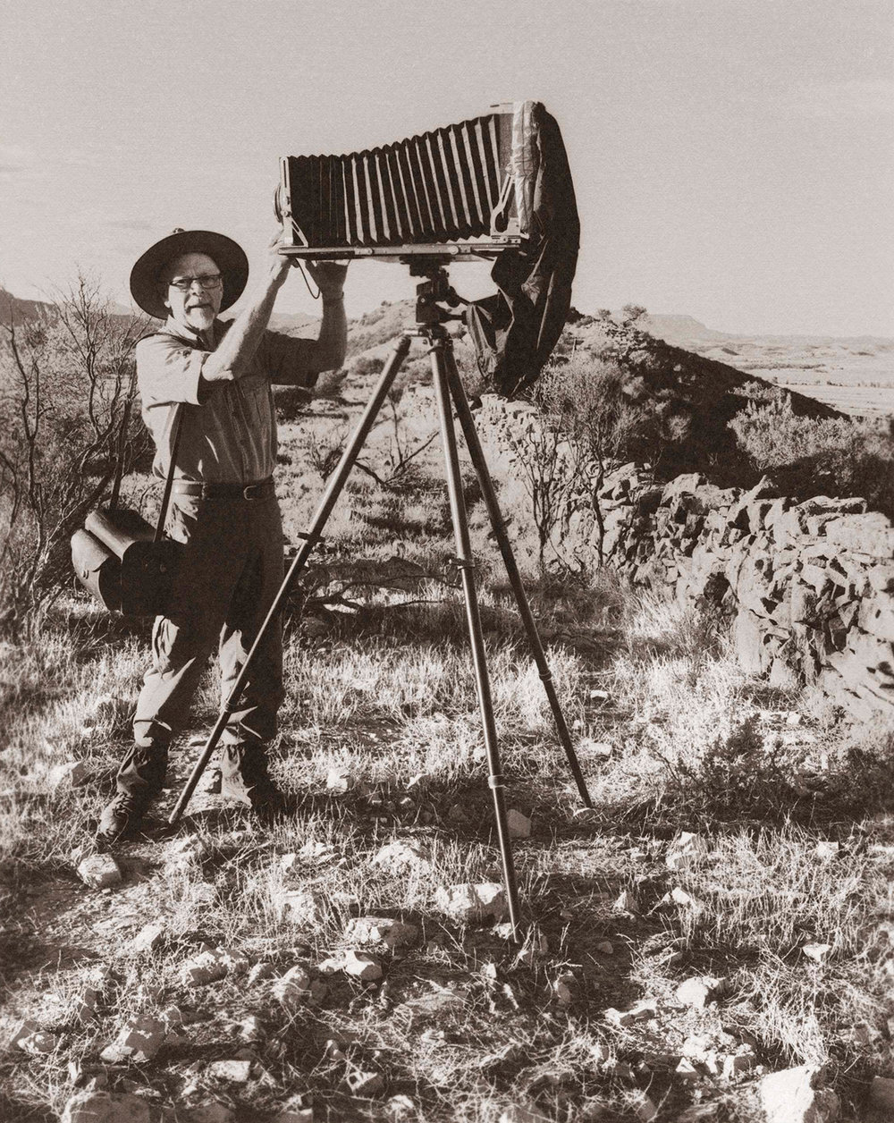 Self-portrait  Flinders Ranges, 2016 Platinum-palladium print