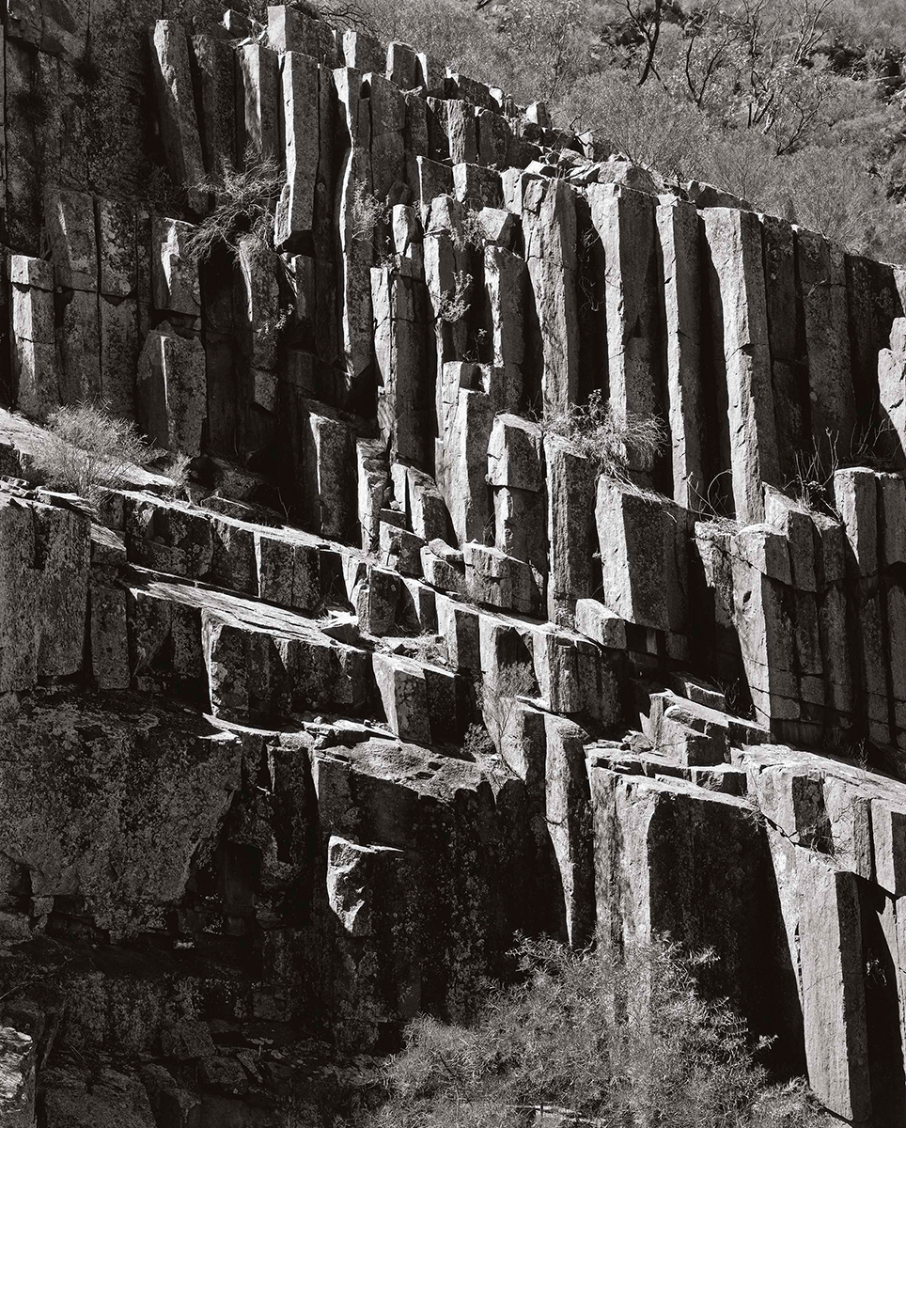 Rhyolite Rock Columns