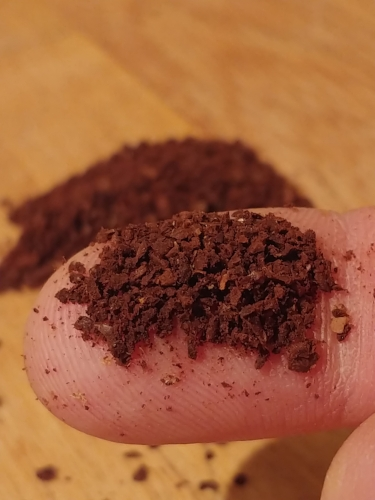 A medium-coarse grind strains well when pressed.