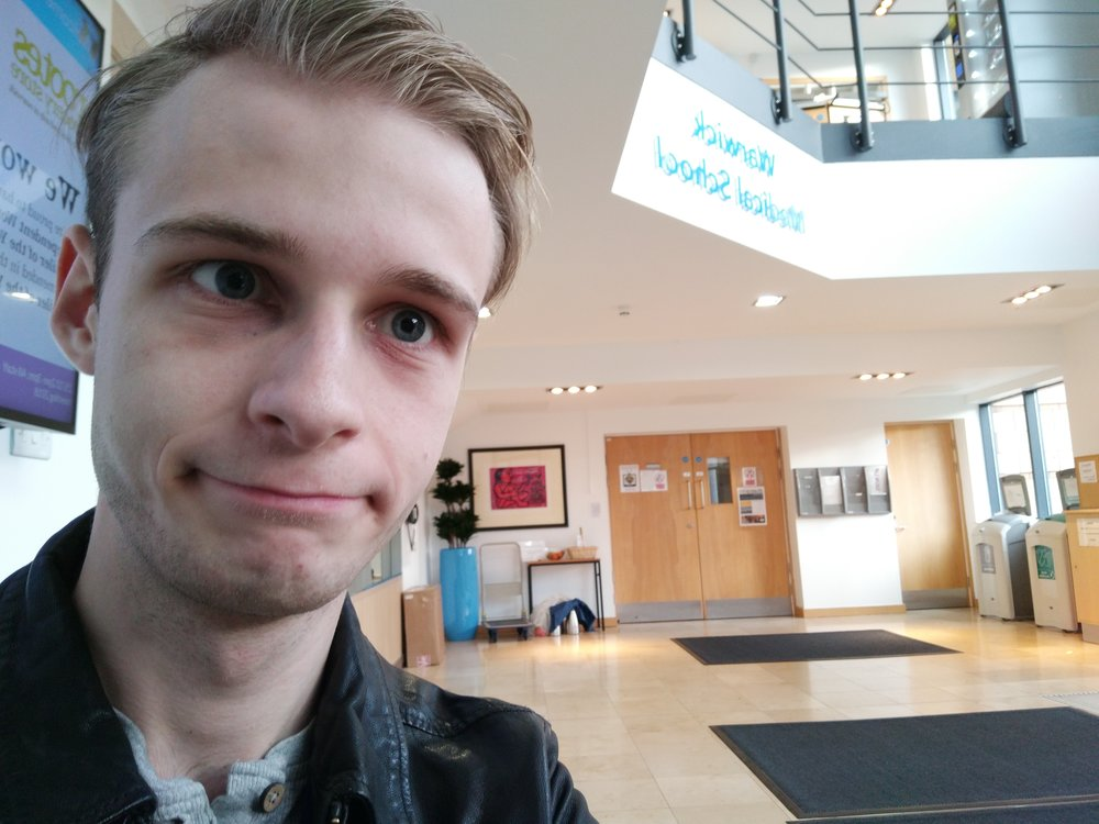 My housemates were late out of their CBL session - I waited in the lobby with all my friends
