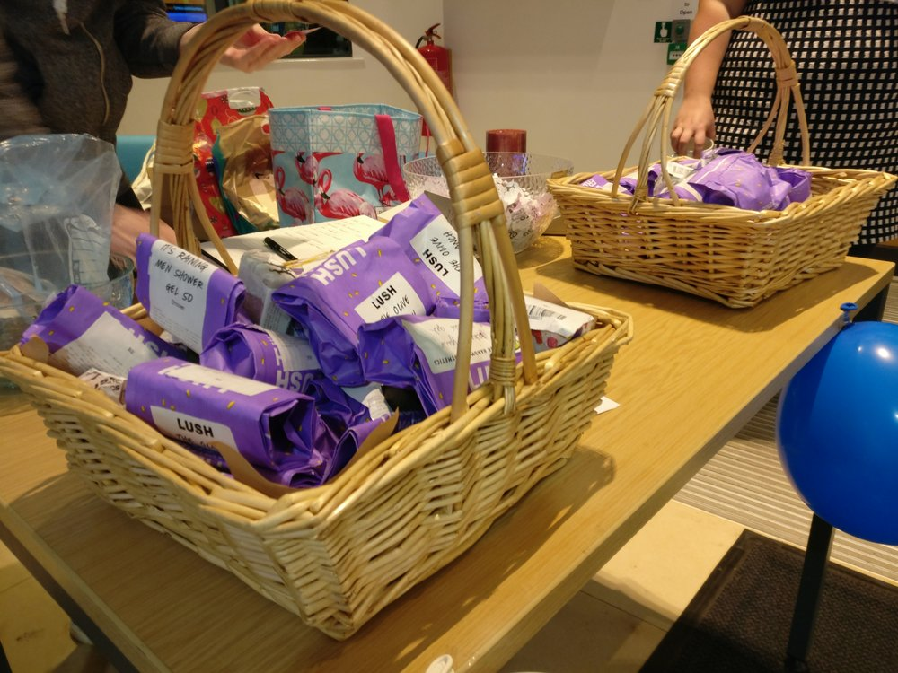 Big thanks to Lush (and our other sponsors) for donating a ton of prizes