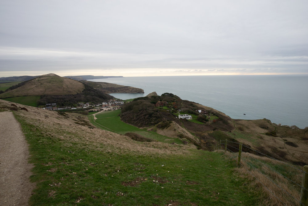 The way back from Durdle Door to Lulworth Cove