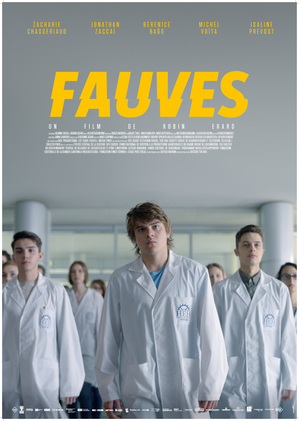 FAUVES- WILD CATS  - Directed by Robin ERARDScript by Robin ERARD & Joanne GIGERWith Zacharie CHASSERIAUD, Jonathan ZACCAÏ, Bérénice BAÔO, Michel VOÏTA & Isaline PREVOSTYear: 2017Original Version: FrenchGenre: Drama, ComedyRunning Time: 100minProduction companies: LES FILMS FAUVES (LU), NOVAK PROD (BE) & BOX PRODUCTIONS (CH)