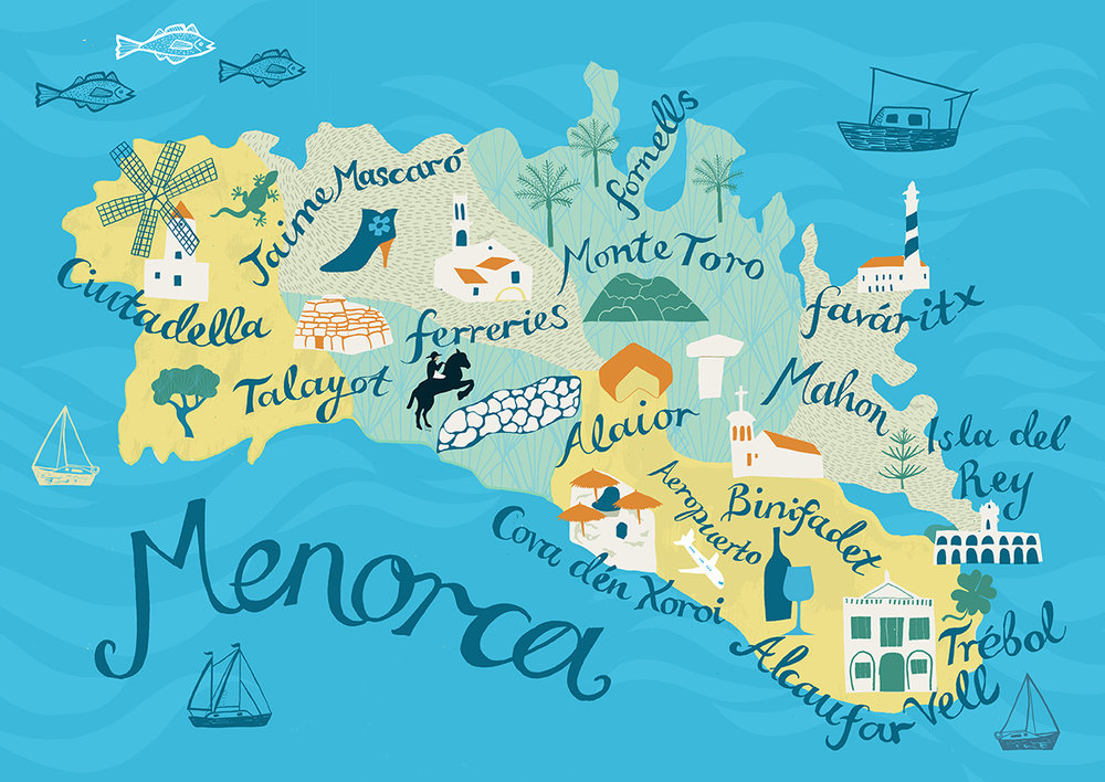 Menorca Map, 2015.  Available as a limited edition print   here.