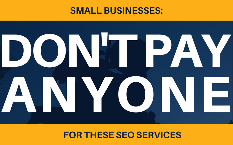 don't pay for these SEO services