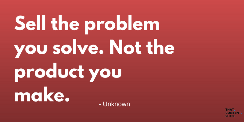 sel the problem not the product quote