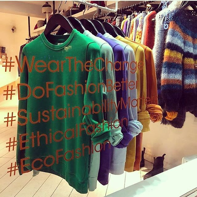 Love this photo from @69bboutique window in London feat. our tagline #DoFashionBetter 🙌🏼🧡 pop into this treasure trove of a store on Broadway Market for a beautiful selection of sustainable brands like @colorfulstandard currently in the window