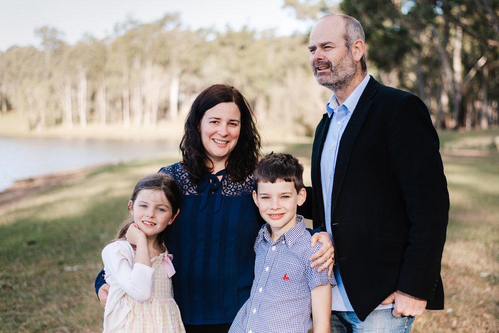 family portrait of Brisbane family