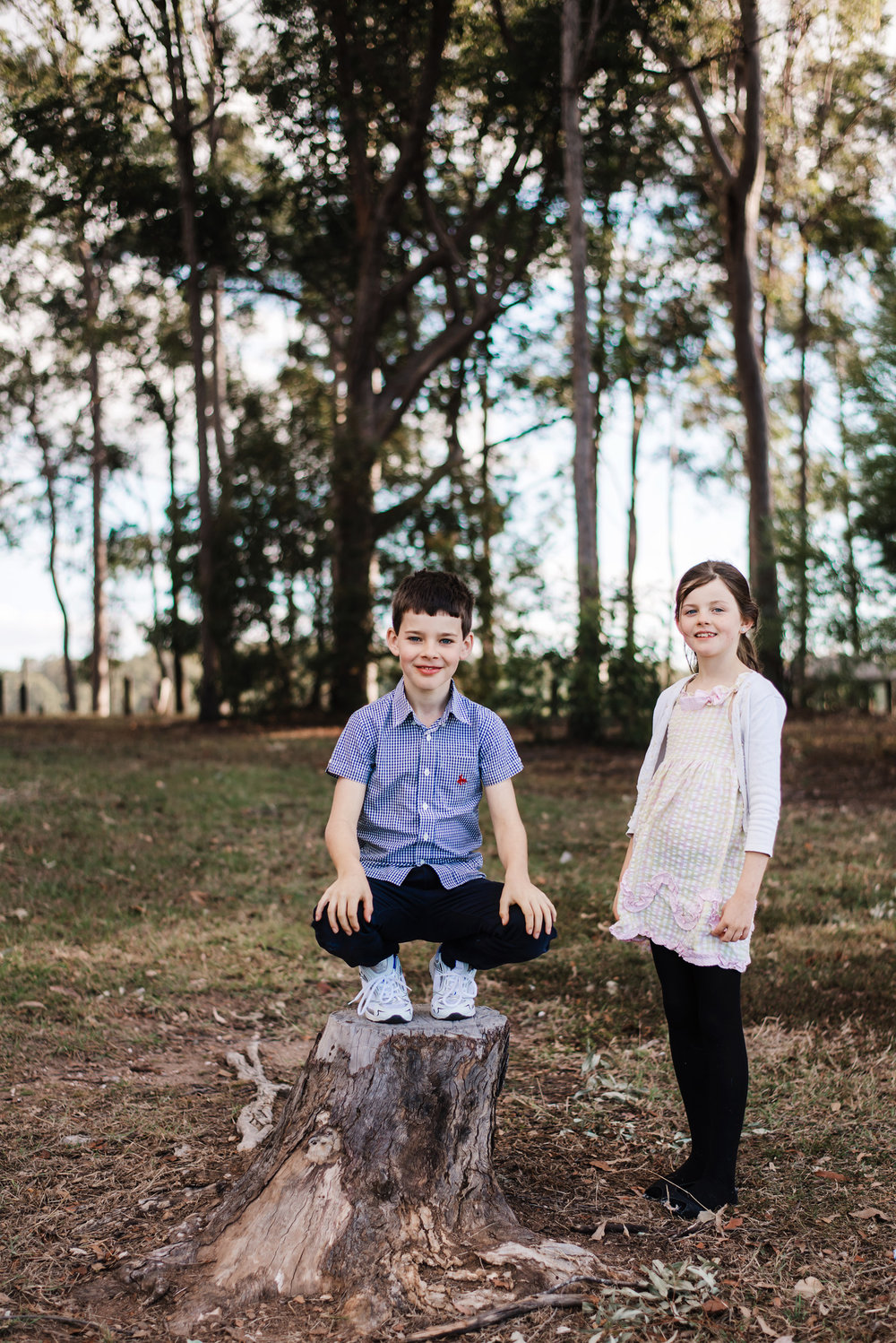 outdoor portrait of brother and sister