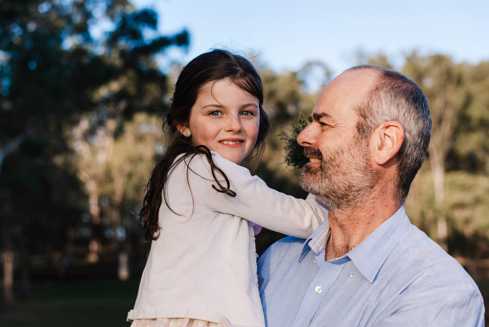 dad and daughter outdoors in North Brisbane