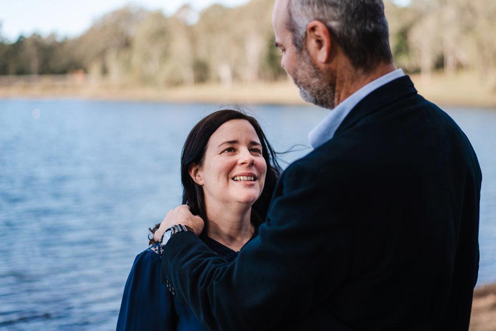tender moment between Brisbane couple
