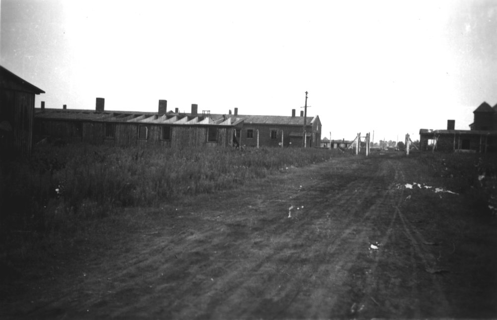View of Fünfteichen camp taken shortly after liberation [Gross Rosen Museum]
