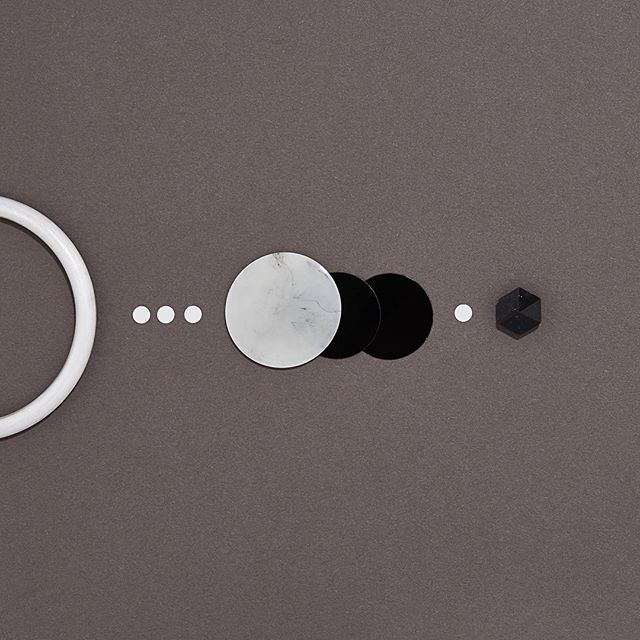 New moon approaching 🌚 New Lunar Opus earrings? • Hex studs with marble black rounds • Shop online mookicreative.com.au • #mookicreative #design #jewelry #earrings