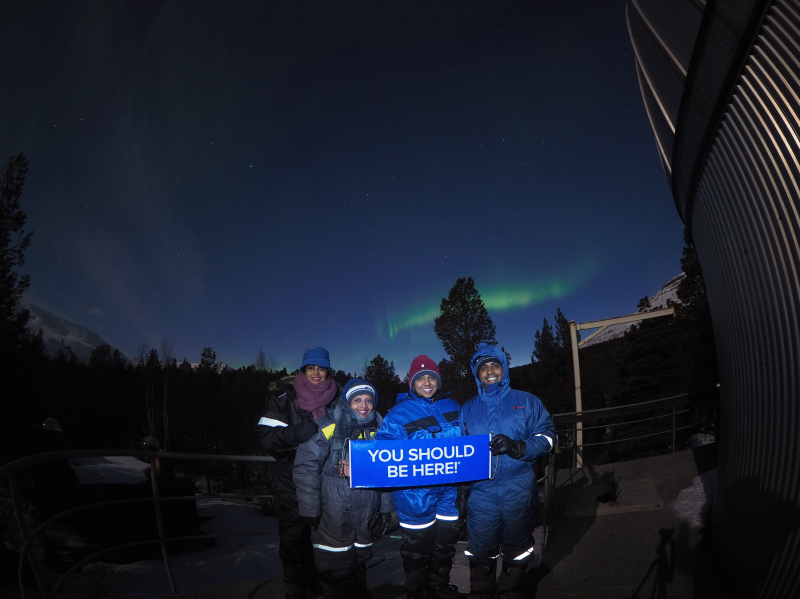 We take our guests to Skibotn Observatory for Aurora spotting on April 9