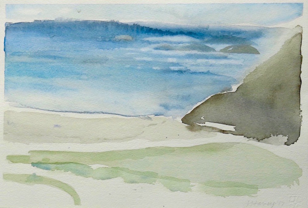 iona blue-st columba's bay-iona2  watercolour 23x34cm