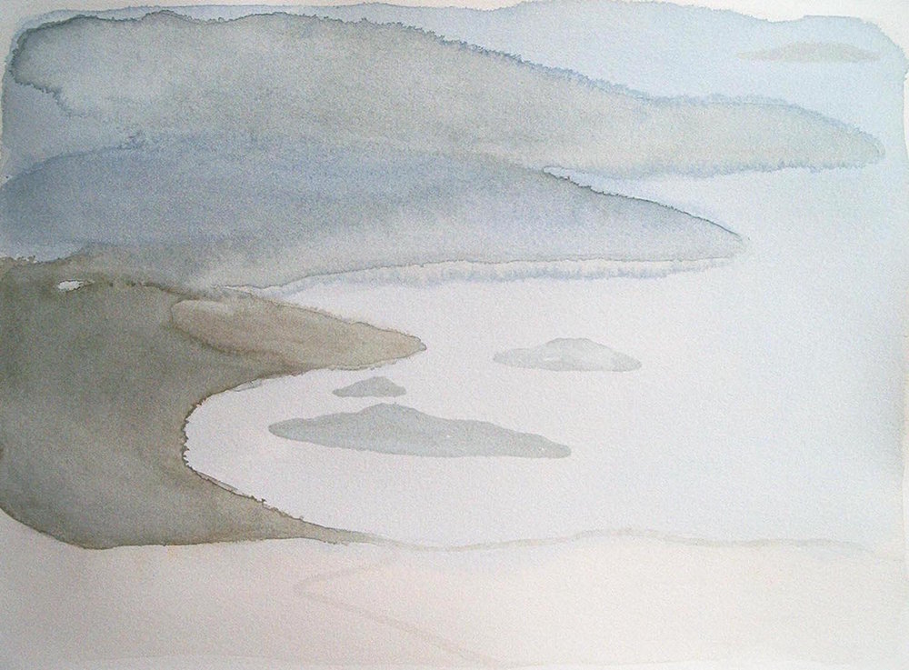 greek landscape  watercolour  SOLD