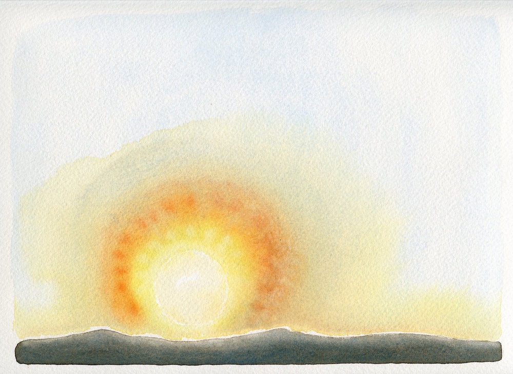 beginnings   watercolour  28x37cm