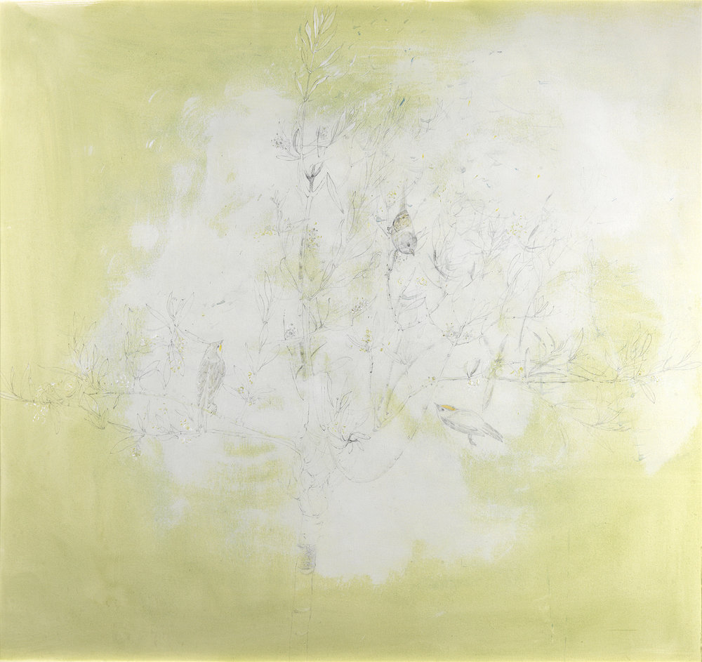 resurrection  tempera pigment-gesso-graphite SOLD