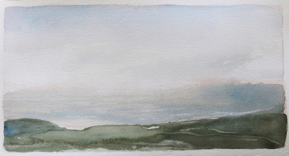 from dun i-evening-iona1  watercolour  SOLD