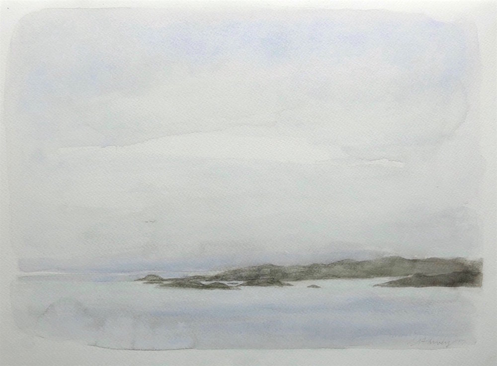 fragile light-the sound-iona  watercolour  30x41cm