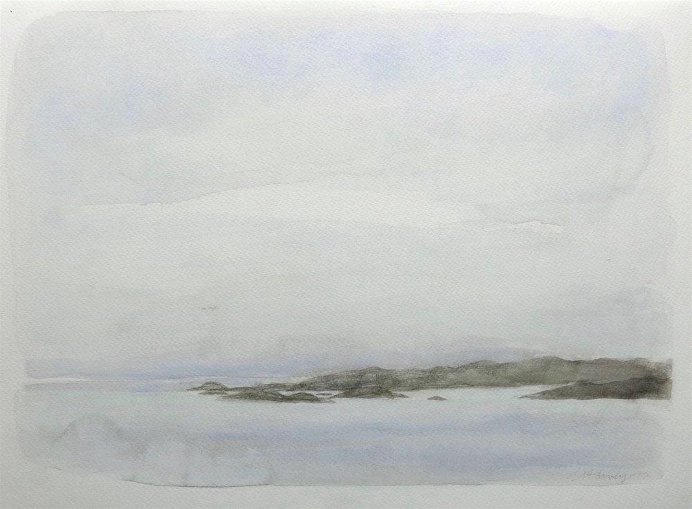 fragile light-the sound-iona  watercolour  30x41cm