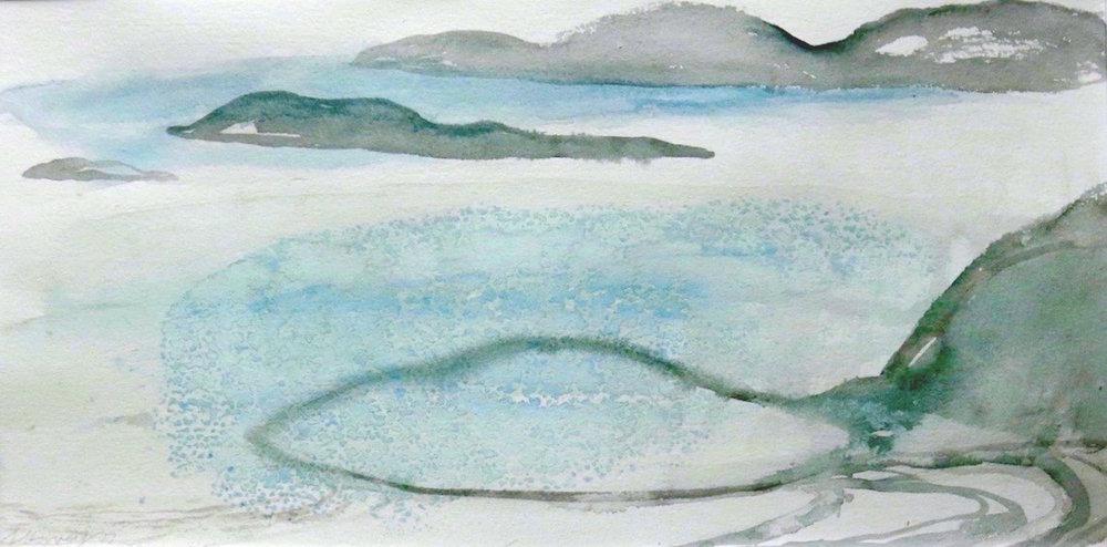 west coast-port ban-iona  watercolour 22x38cm