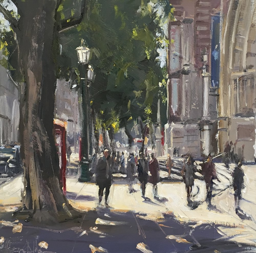 The V&A  Sunny afternoon 12x12 Oil on board
