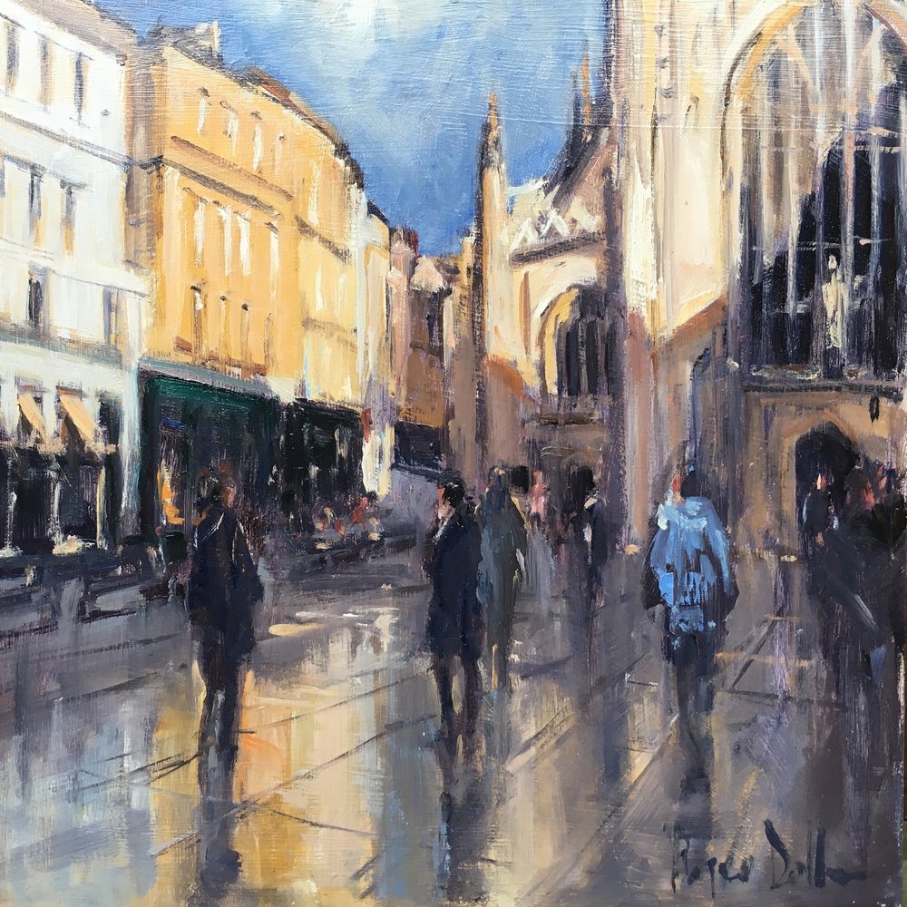 Bath Abbey 12x12 Oil on board