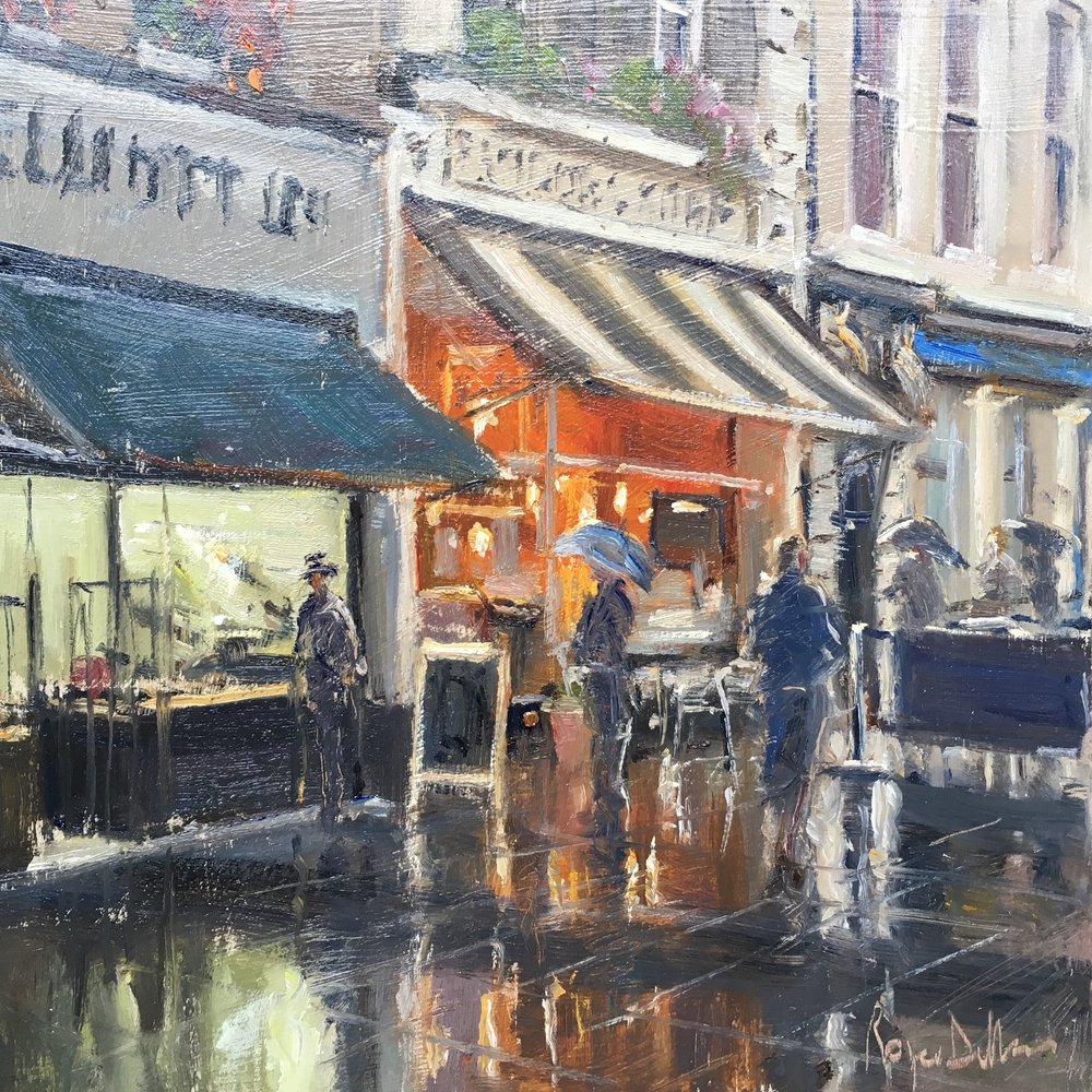 Wet day Norwich 12x12 Oil on board