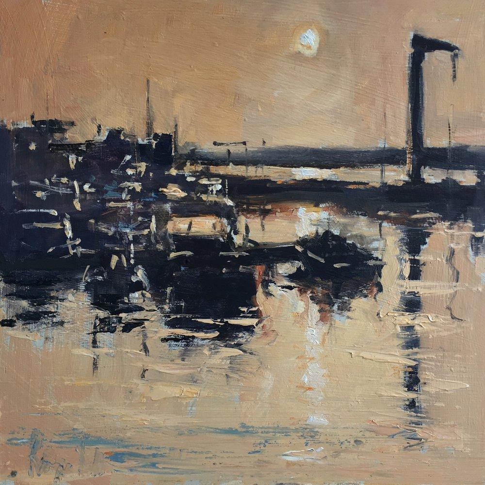Sunrise Portugal 10x10 Oil on board