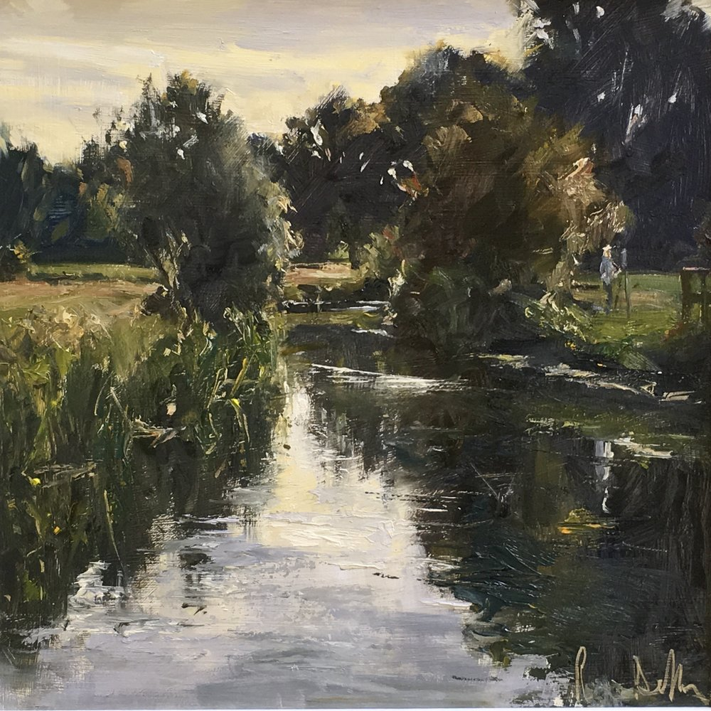 River Stour 12x12  Oil on board Plein air Winner