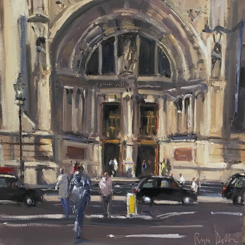 The V&A 12x12  Oil on board