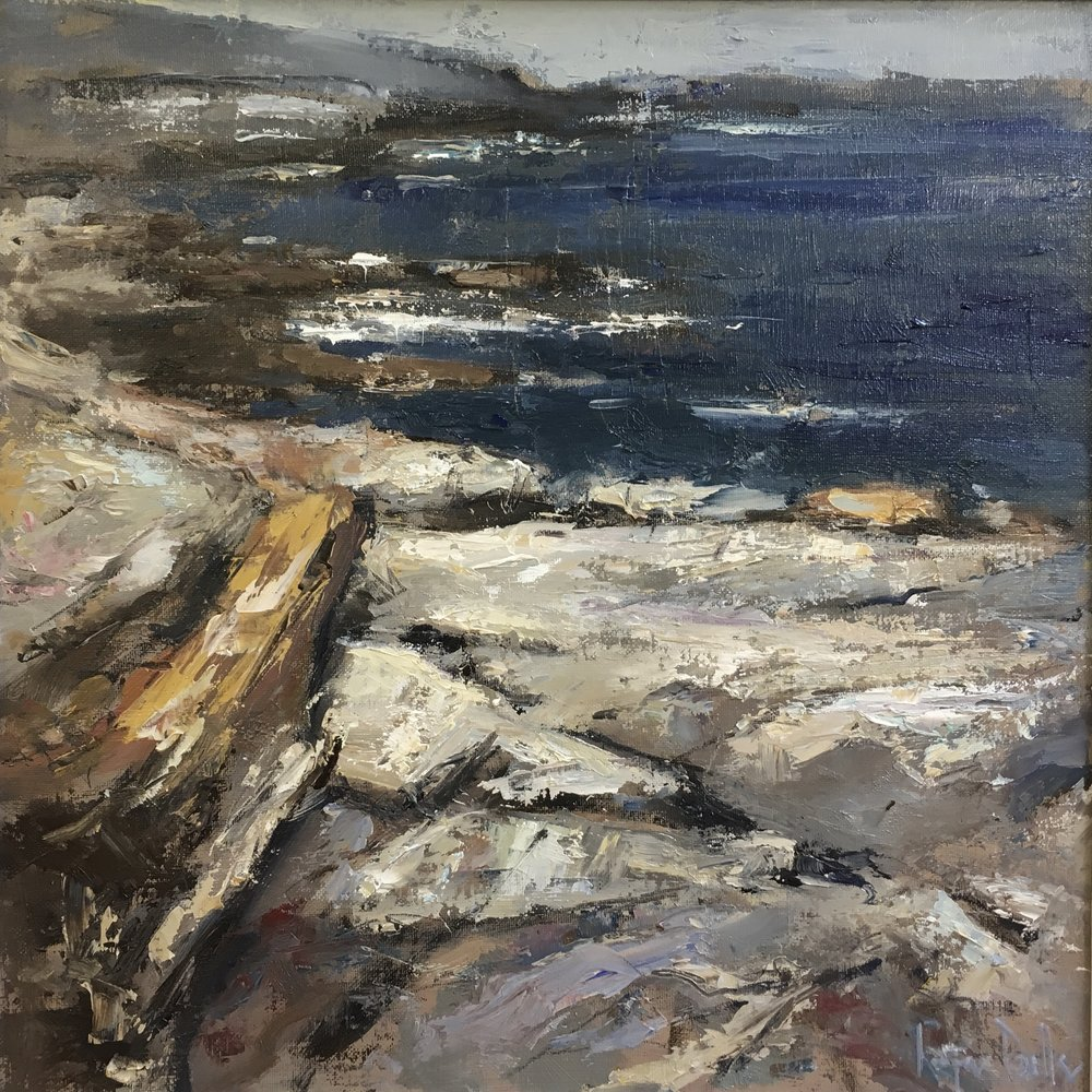Irish shoreline 16x16 Oil on board