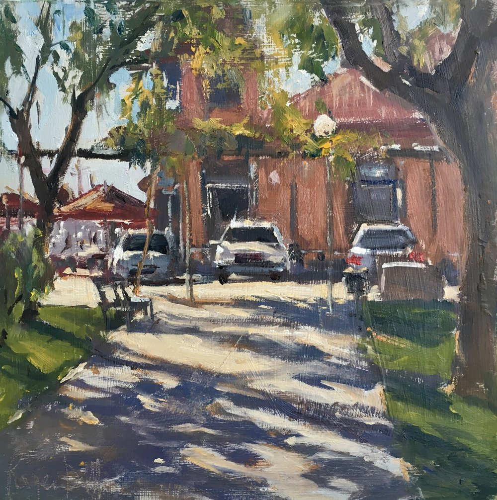 By the Market Portugal 10x10 Oil on board