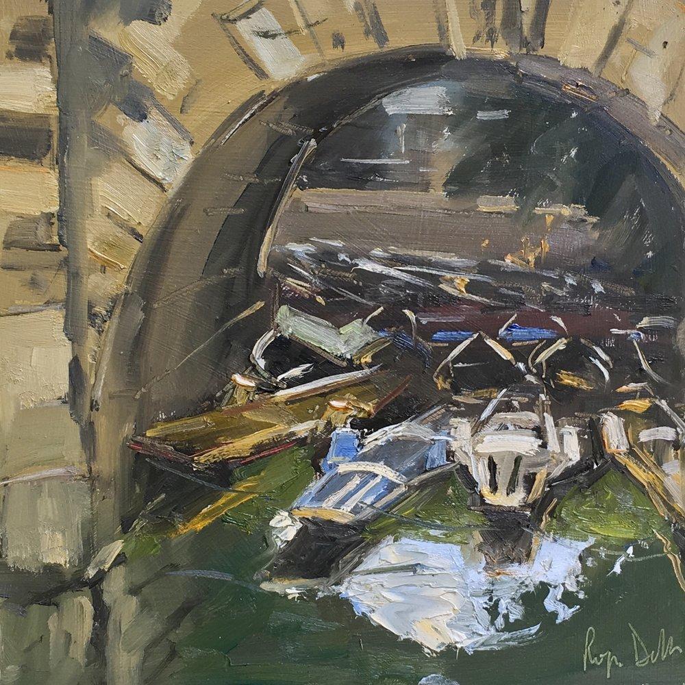 Punts ,Oxford 10x10 Oil on board