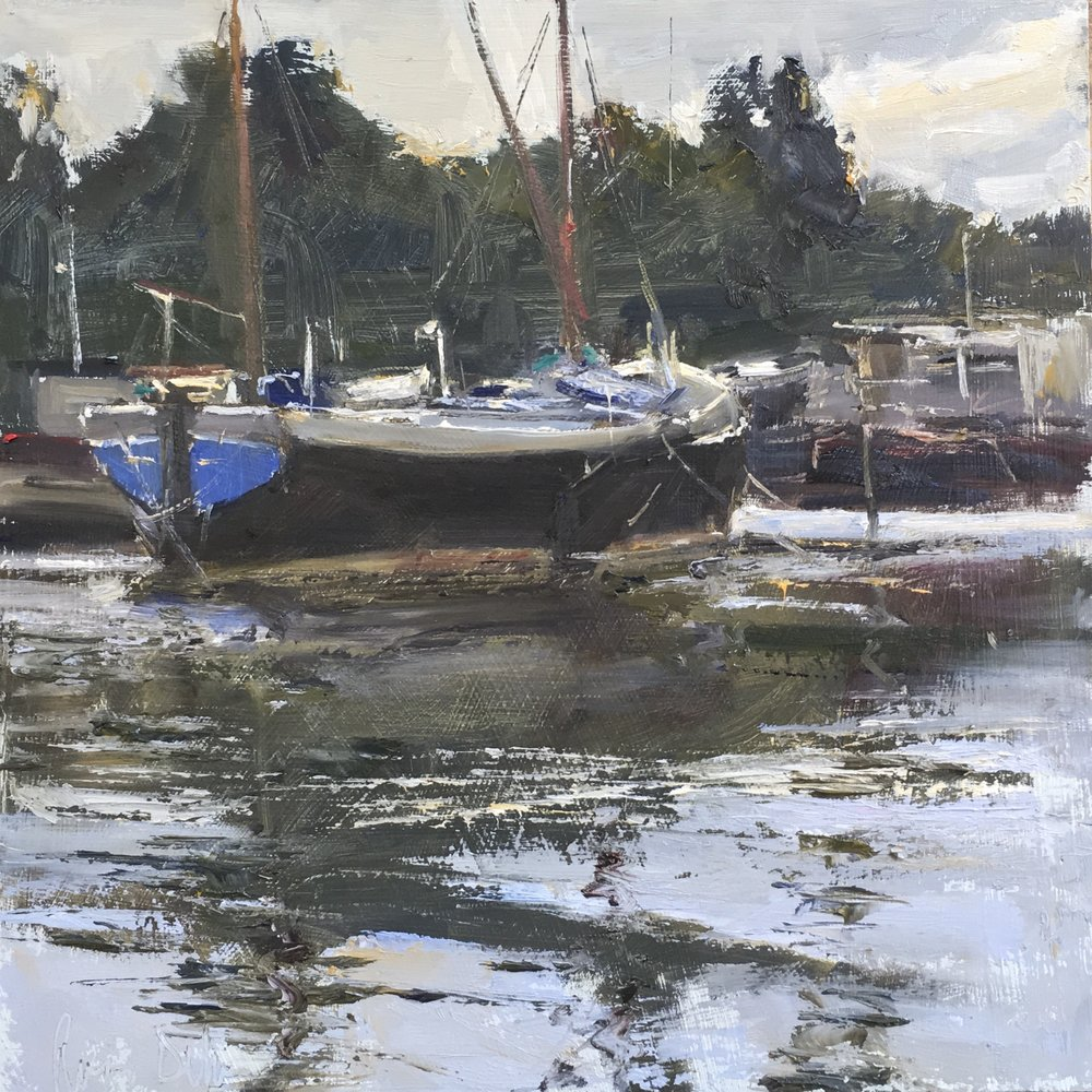 Barges St Osyths 12x12 Oil on board