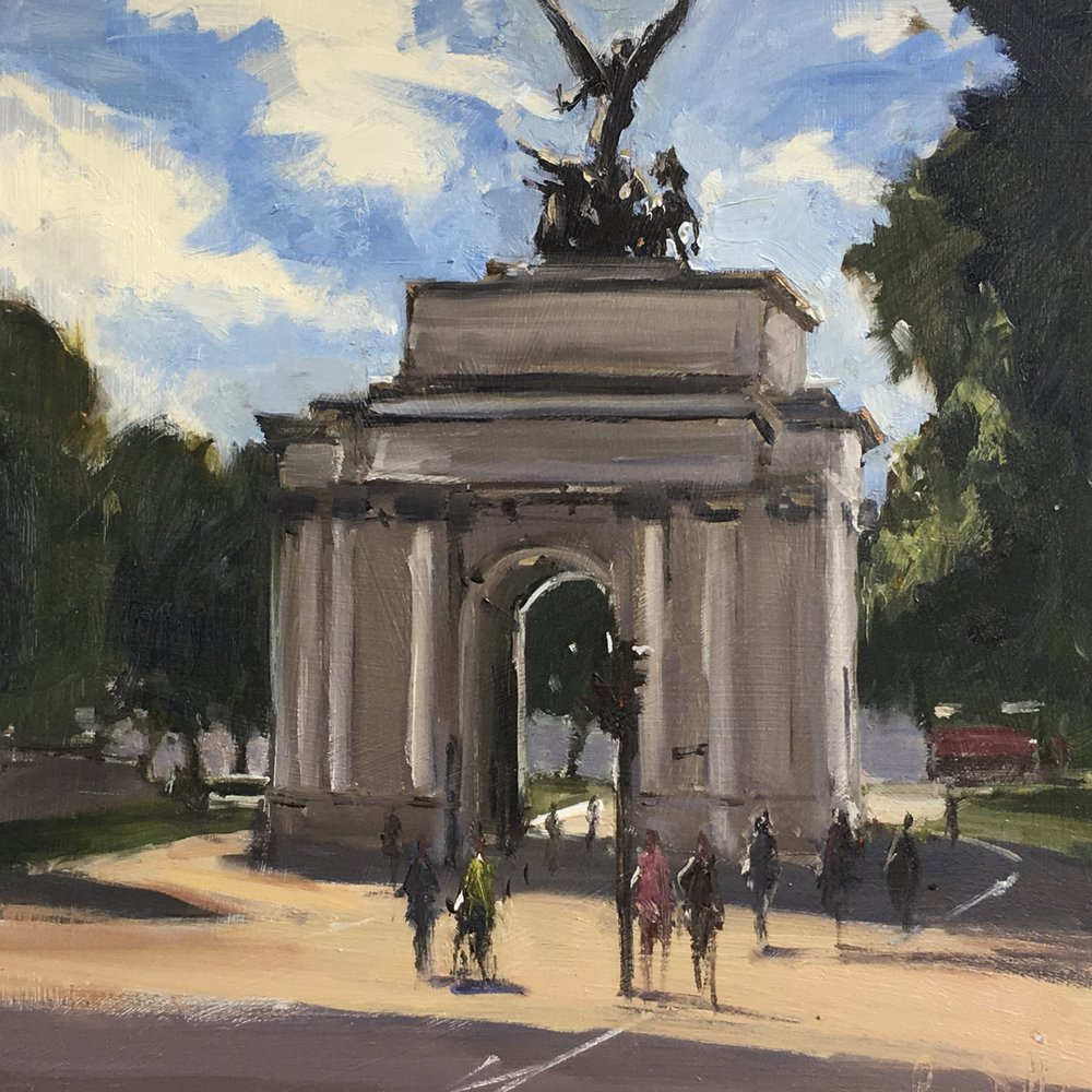 Hyde Park Corner 12x12 Oil on board