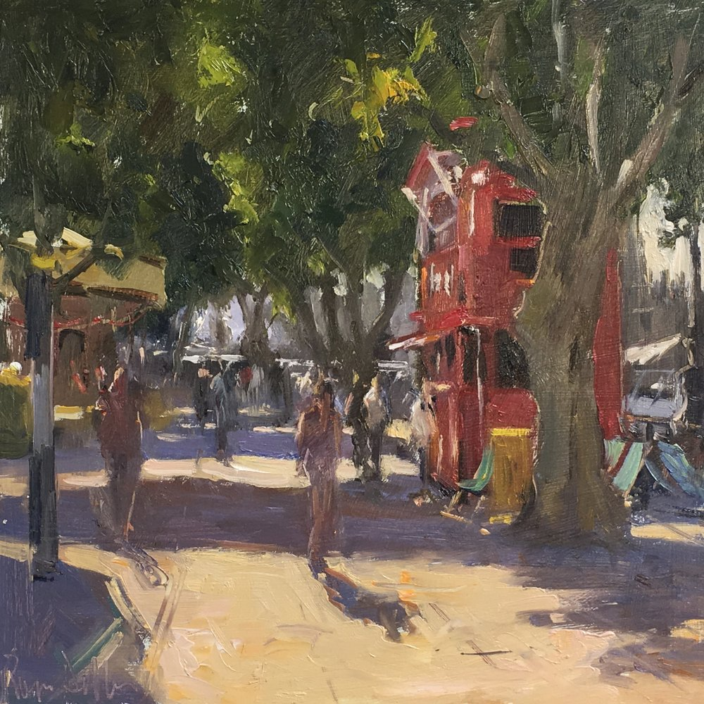South bank 12x12 Oil on board