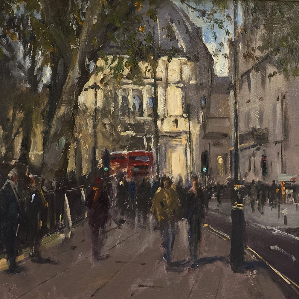 Parliament Sq 12x12 Oil on board