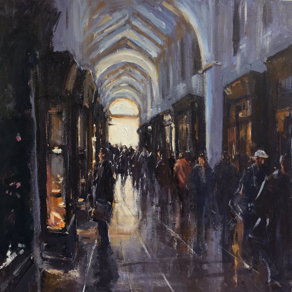 Burlington Arcade 20x20 Oil on board