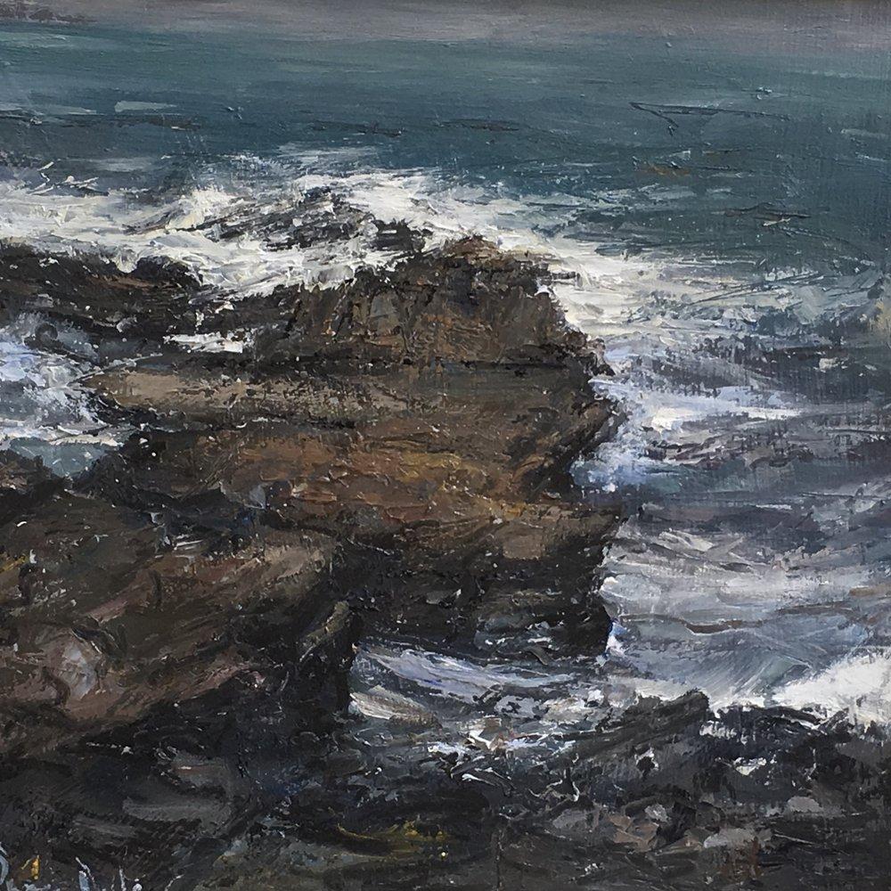 Craggy Rocks 10x10  Oil on board
