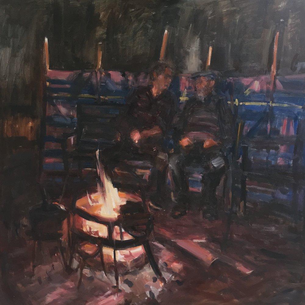 Around the campfire    1 metre square