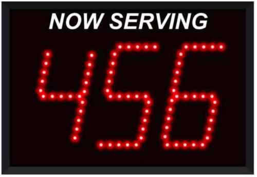 "Simple Digital Signage - ""Now Serving"""