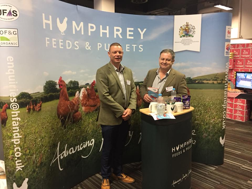 Steve Clout (left) Poultry Specialist and Charles Macleod (right) Rearing Director on the stand at the BFREPA conference.