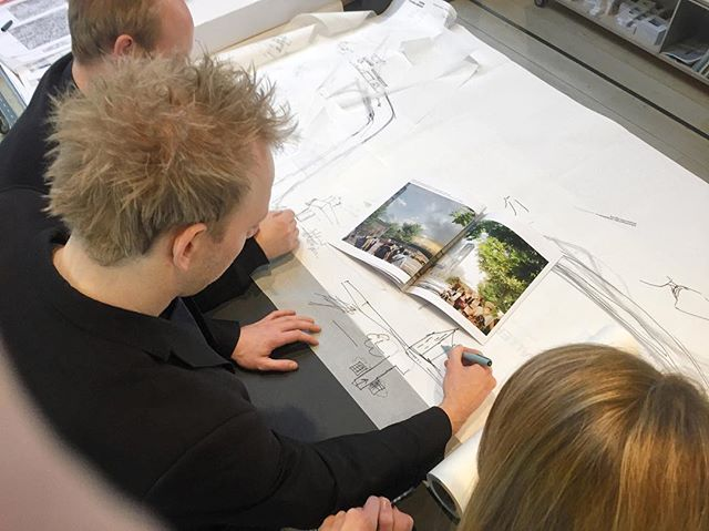 Working on updated plans with our friends at Schmidt Hammer & Lassen / Vi lægger nye planer med vores venner hos Schmidt Hammer & Lassen. #architecture #danisharchitecture #shlarchitects @shlarchitects #schmidthammerlassen #aarhus