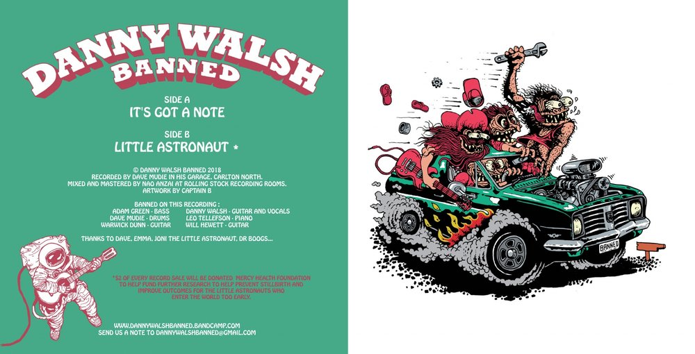 "Danny Walsh Banned 7"" Cover Ink and Digital Colour 2018"