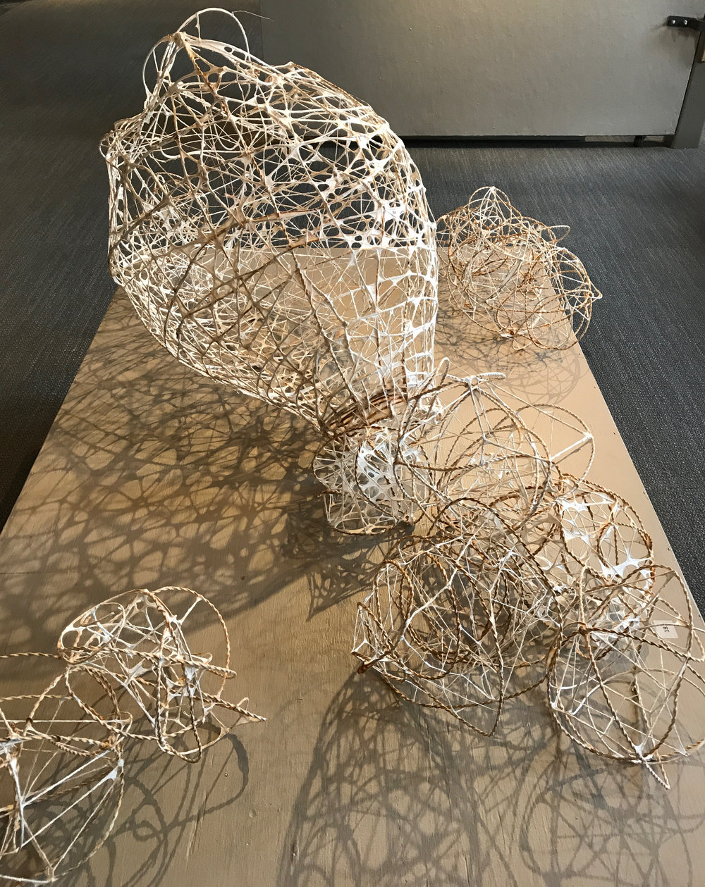 Untitled Rebar Tie Wire Sculptures